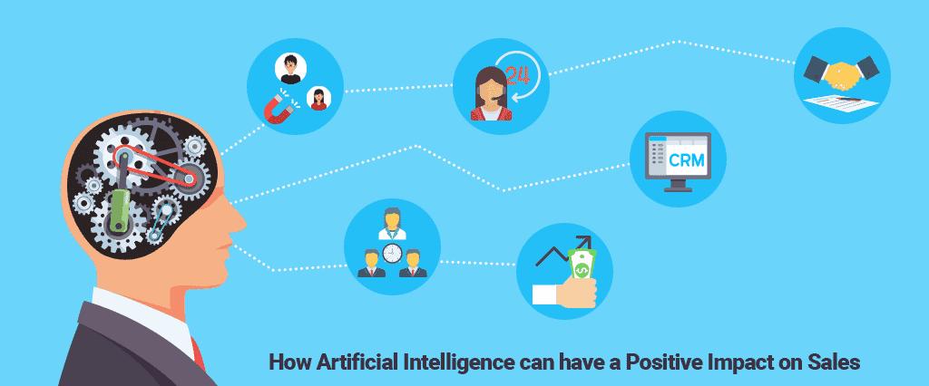 Illustration: Welchen positiven Effekt künstliche Intelligenz auf den Vertrieb hat