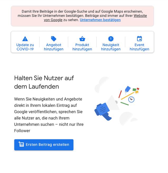 Google My Business Beiträge